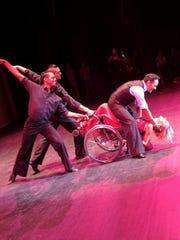 Tara Blackwell and her dance partner, Victor Luna,