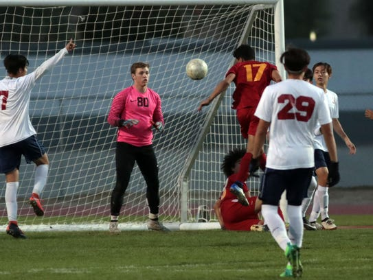Palm Desert and La Quinta soccer on Tuesday, January