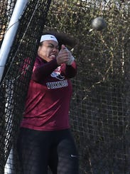 Valhalla's Sam Morillo competes in the Hammer Throw