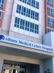 The entrance to the Albany Medical Center Hospital, the center of the organization's large Park South campus in the state's capital city.