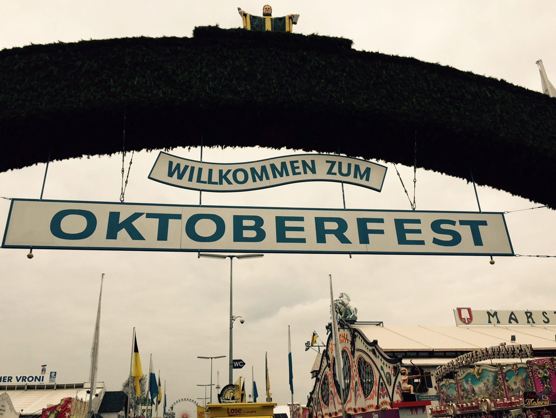 Munich is hosting its annual Oktoberfest.