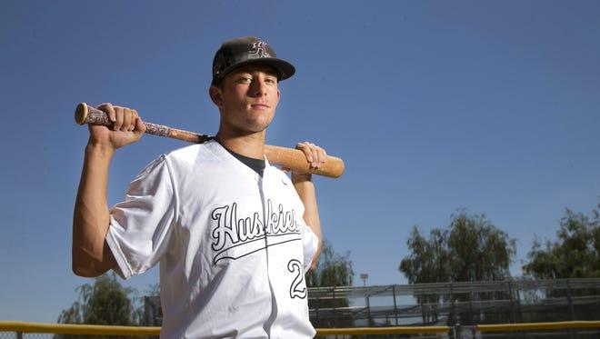 Nick Brueser, a Hamilton High junior first baseman was the azcentral sports big school baseball player of the year.