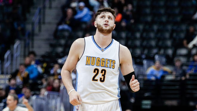 Jan 21, 2017; Denver, CO, USA; Denver Nuggets center Jusuf Nurkic (23) in the fourth quarter against the Los Angeles Clippers at the Pepsi Center.