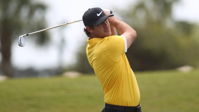 Former FSU golfer Brooks Koepka, 26, plays a Tuesday practice round at TPC Sawgrass in advance of THE PLAYERS Championship.