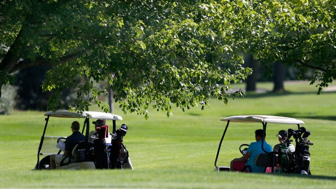 The U.S. Venture Open charity golf event at Northshore Golf Club on August 13, 2014, in Menasha.