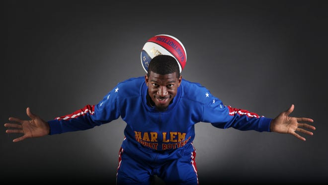 Buckets Blakes, of the Harlem Globetrotters, along with other teammates, will be at Germain Arena on Tuesday.