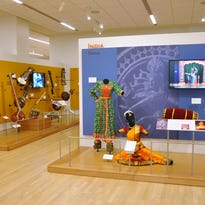 The India exhibit inside the Asia gallery at Musical Instrument Museum.