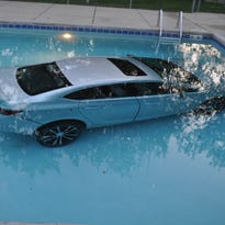 This car's riders were safe. The submerged car? Not so much, as officials consider how to retrieve it from a Waukesha pool