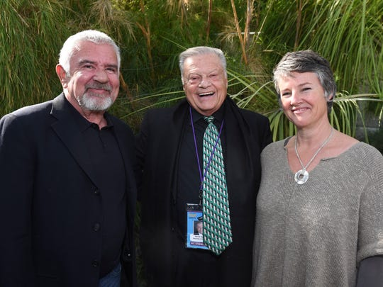 Executive director Darryl Macdonald with festival chairman Harold Matzner and artistic director Helen du Toit.