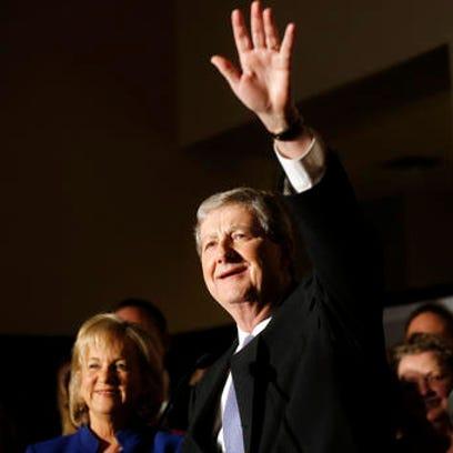 Louisiana state treasurer John Kennedy addresses supporters