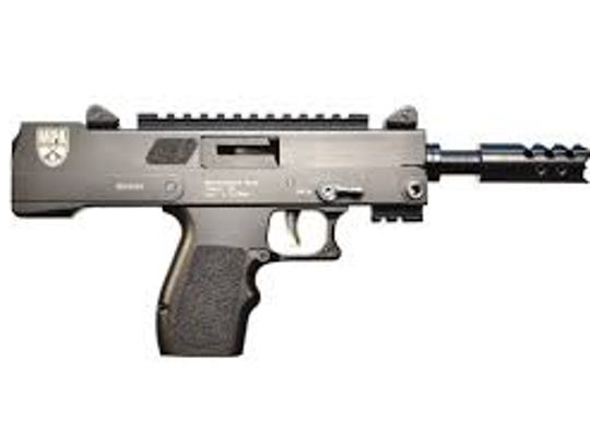 MPA57SST pistol like the one used in the Club Blu shooting.