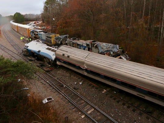 AP TRAIN CRASH SOUTH CAROLINA A USA SC