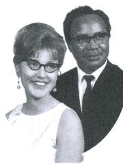 Anita and Benjamin Dennis' wedding portrait