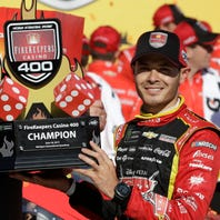 Is Kyle Larson the favorite to win at MIS? History says yes