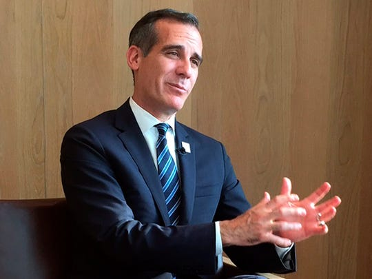 Eric Garcetti, mayor of Los Angeles, may run for President.