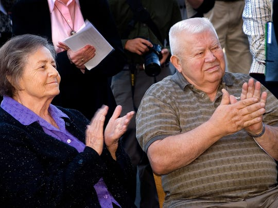 Benedict and Dorothy Gorecki at the Gorecki Center blessing in 2007.