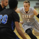 IU East's Tyler Fangman drives to the basket Wednesday against Alice Lloyd at Earlham College.