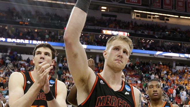Mercer forward Jakob Gollon was part of one of the biggest upsets of the NCAA men's basketball tournament this year as the Bears downed third-seeded Duke