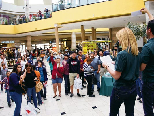This was the scene at Cielo Vista Mall last year for the kickoff rally for Money Smart Week. The El Paso kickoff rally for this year's event is today at Cielo Vista from 1-4 p.m.