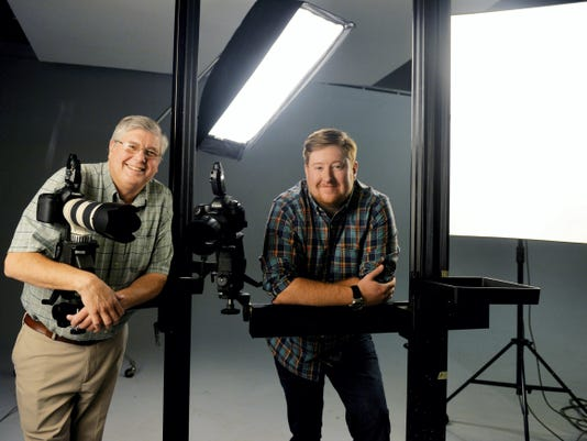 Jim Hayman III, chairman of Hayman Studio, and his son Ryan, the studio's president, stand for a portrait in their North York studio on Sept. 16. The studio was founded by Jim's father, James Jr. in 1950. It is celebrating its 65th year in business this year.
