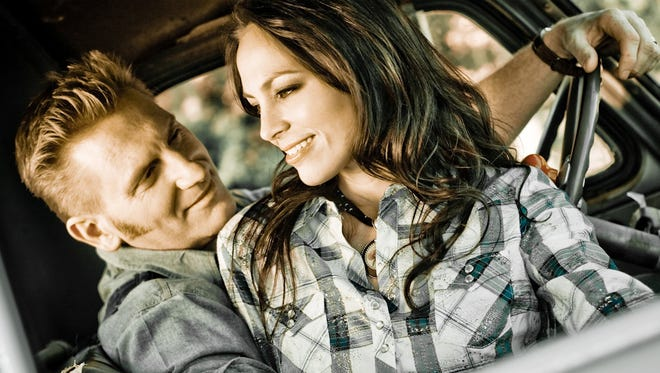 "Joey & Rory duo Rory Lee Feek (left) and Joey Martin post on the cover of ""Album Number Two"""