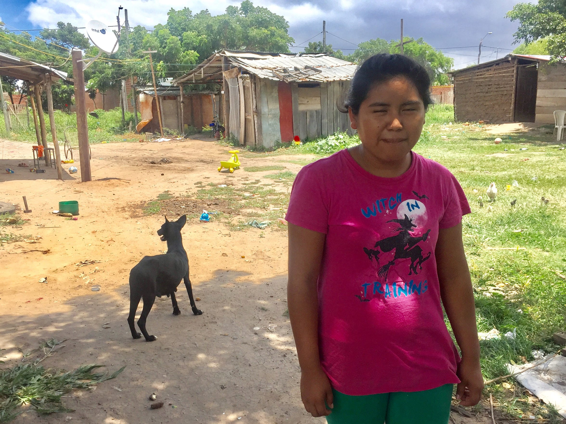 Rossi, 16, seen here in her Ayoreo village near Santa Cruz de la Sierra, Bolivia, wants to become a teacher. She's a good student, and her mentors say she has a solid chance of achieving her goal.