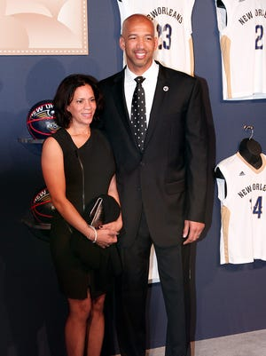 Ingrid and Monty Williams are pictured in February 2014.