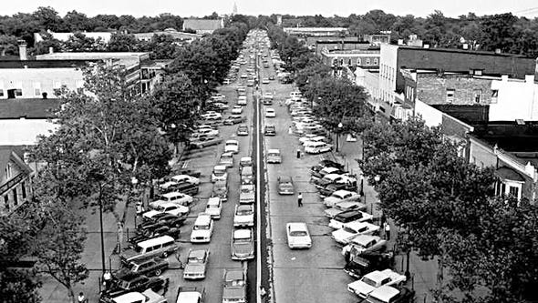 A 100-year-old Landis Avenue bustles with traffic and
