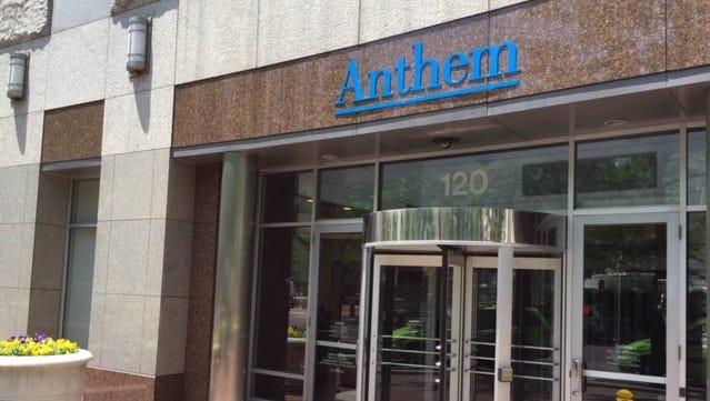 Headquarters of health insurer Anthem Inc. on Monument Circle.