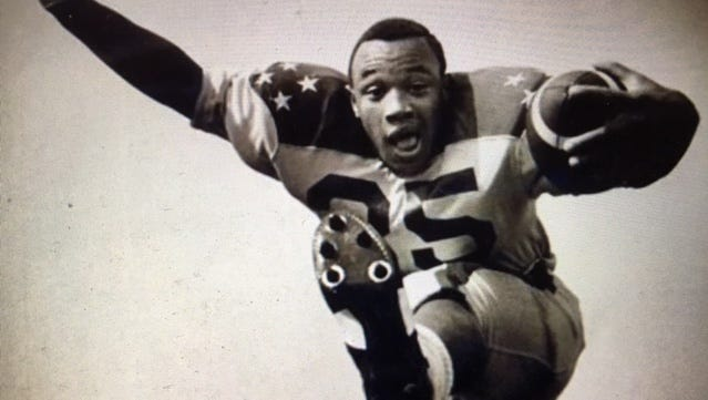 Pedro Swann Sr. before the 1969 Blue-Gold game.
