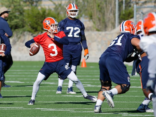 UTEP quarterback Mark Torrez along with Ryan Metz returned
