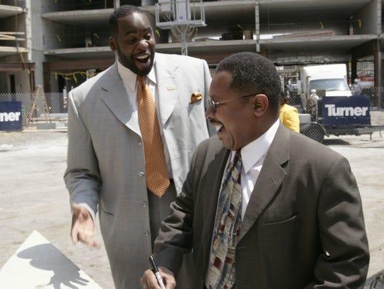 Detroit Mayor Kwame Kilpatrick and George Jackson,