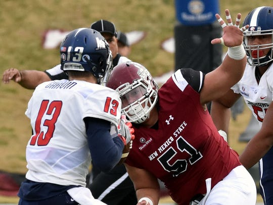 With nine starters returning, including Roy Lopez, how good can the New Mexico State defense be this season?