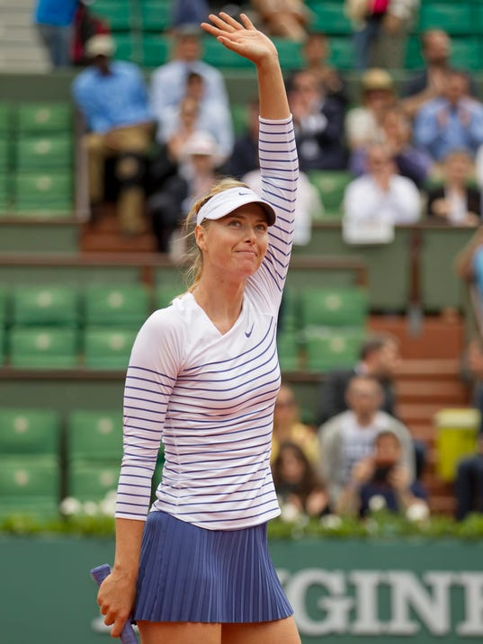 Tennis: French Open Sharapova vs Diatchenko