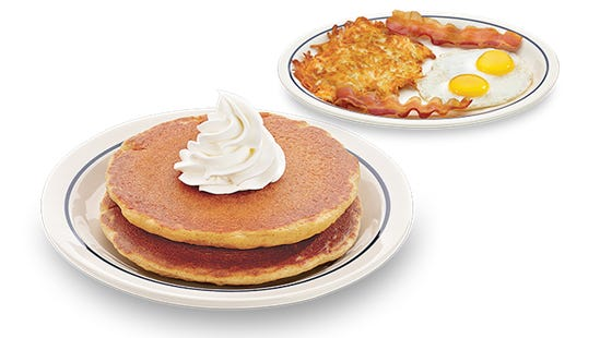 Pumpkin Pancakes Combo at IHOP