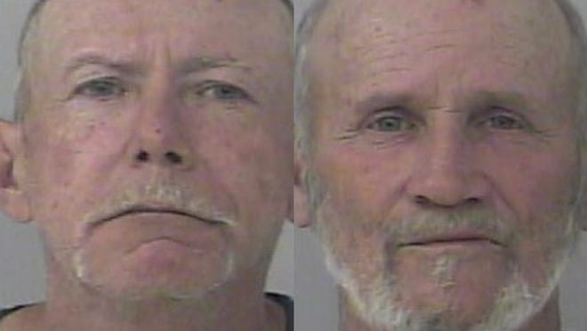 Jack Coggins (left) and Stephen Watkins were accused of trafficking oxycodone Thursday.