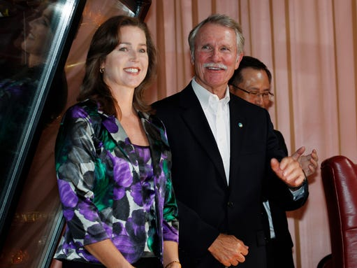 Oregon Gov. John Kitzhaber and his fiancee, Cylvia