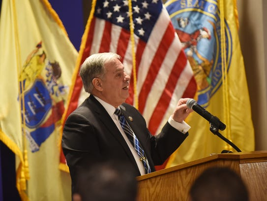Bergen County Executive Jim Tedesco delivers the annual
