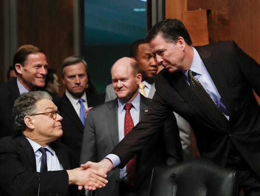 James Comey, Chris Coons, Al Franken, Richard Blumenthal