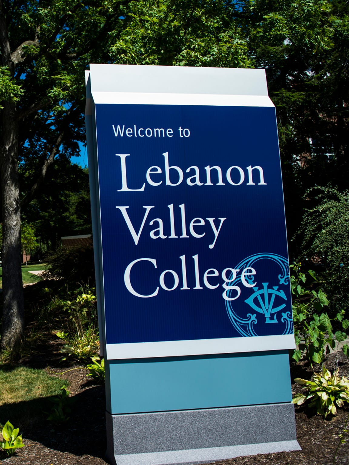 Lebanon Valley College sign pictured on August 25,