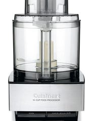 This undated photo provided by Cuisinart shows a Cuisinart 14-cup food processor. Cuisinart is voluntarily recalling about 8 million food processors after dozens of consumers reported finding pieces of broken blades in their food. Cuisinart's parent company, Conair, announced the recall with the Consumer Product Safety Commission on Tuesday, Dec. 13, 2016. The recalled processors were sold in the United States and Canada from July 1996 to December 2015. Only processors with four rivets in the blades are included in the recall.