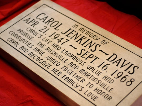 A facsimile of the memory stone was given to the Davis