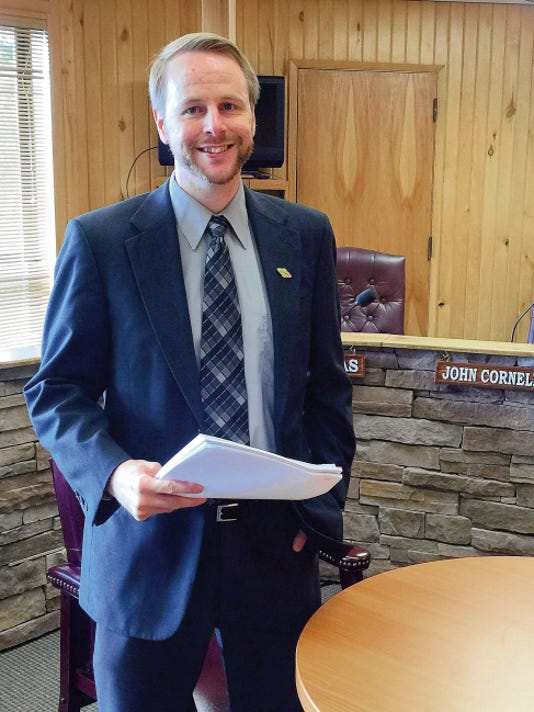 Bradford Dyjak, Ruidoso's new planning administrator, attended his first village planning and zoning meeting Tuesday.