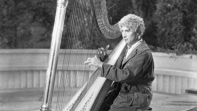 "Harpo Marx in ""Animal Crackers,"" 1930."
