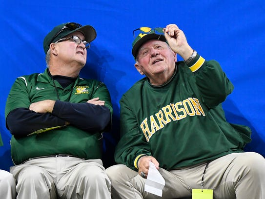 Farmington Hills Harrison head coach John Herrington,