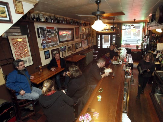 The bar area at Arnold's Bar and Grill, located on