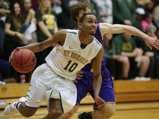 St. Norbert College guard D.J. DeValk (10) averaged a team-high 16.3 points per game last season to earn first-team all-Midwest Conference honors.