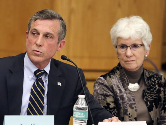 Gov. John Carney and Education Secretary Susan Bunting