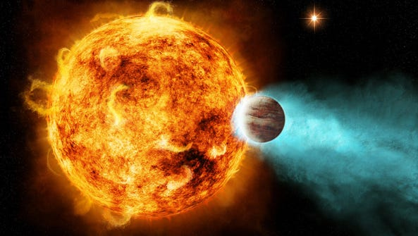 Artist's conception of a hot Jupiter.
