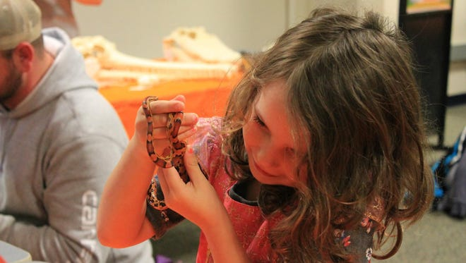 Spooky Science at the Sciencenter lets kids meet cool critters like snakes.